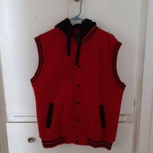 Mensfield sleeveless hoodie
